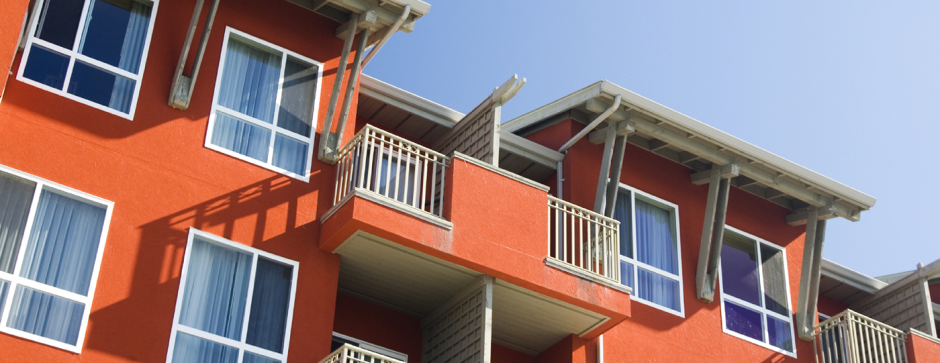 Brightly Colored Multifamily Property