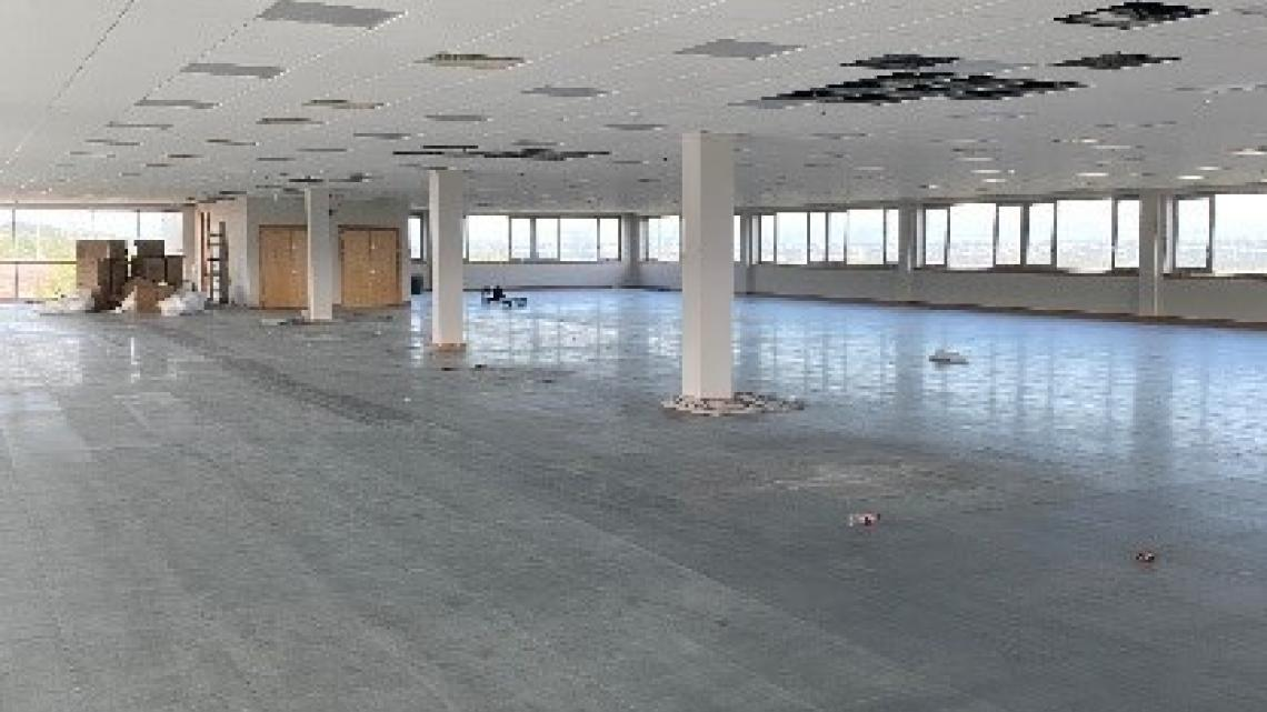 Interior of office builidng under construction