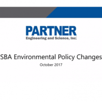 SBA SOP Environmental Policy Changes October 2017